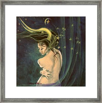 Taurus From Zodiac Series Framed Print by Dorina  Costras