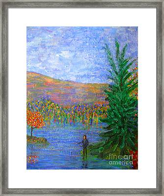 Tauslich Casting Sin Into The Depths Framed Print