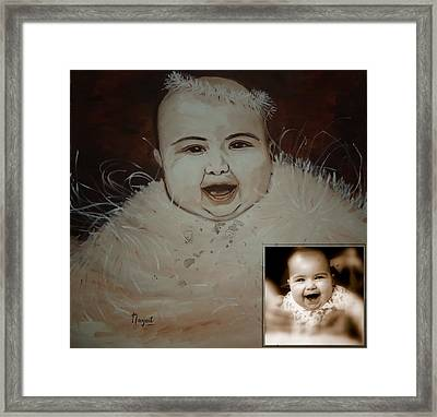 Taveesha....the Angel Framed Print by Navjeet Gill