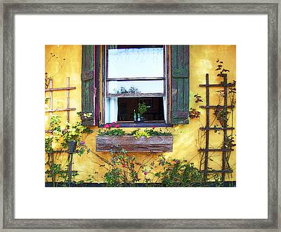 Framed Print featuring the photograph Tavern Window by Ginny Schmidt