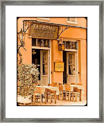Athens, Greece - Taverna Framed Print