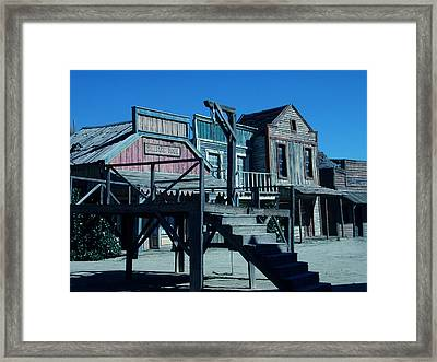 Taverna Western Village In Spain Framed Print