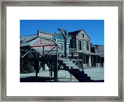 Taverna Western Village In Spain Framed Print by Colette V Hera  Guggenheim