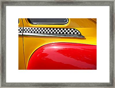 Taxi 1946 Desoto Detail Framed Print by Garry Gay
