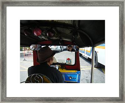 Taxi Ride Through Bangkok Framed Print