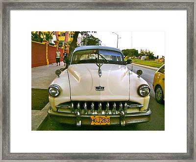 Taxi To President Hotel Framed Print by Laurel Fredericks