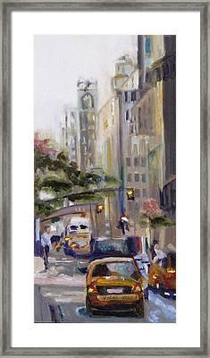 Taxi Framed Print