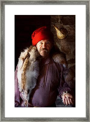 Taxidermist - Jaque The Fur Trader Framed Print by Mike Savad