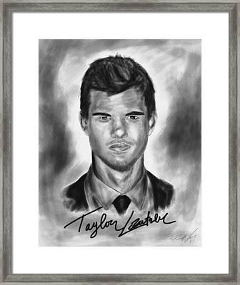 Taylor Lautner Sharp Framed Print by Kenal Louis