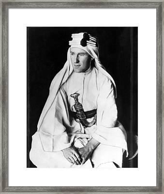 T.e. Lawrence Aka Lawrence Of Arabia Framed Print by Everett