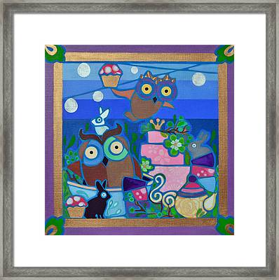 Tea And Cupcakes Framed Print by Jenny Valdez