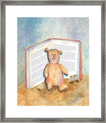 Tea Bag Teddy Framed Print by Arline Wagner