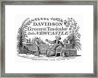 Tea Dealers Label, 1820 Framed Print
