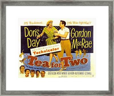 Tea For Two, Doris Day, Gordon Macrae Framed Print