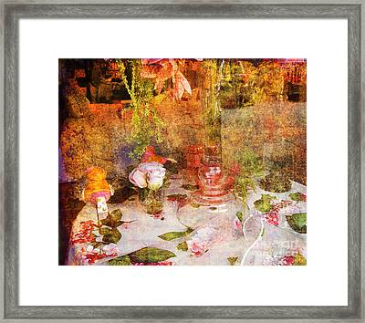 Tea For Two Romantic Framed Print by Susanne Van Hulst