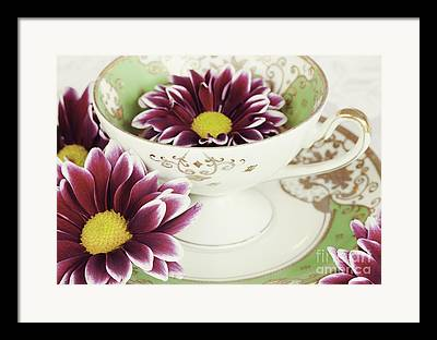 Cup And Saucer Framed Prints