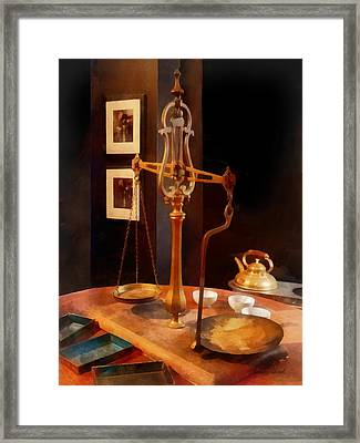 Tea Scale Framed Print by Susan Savad