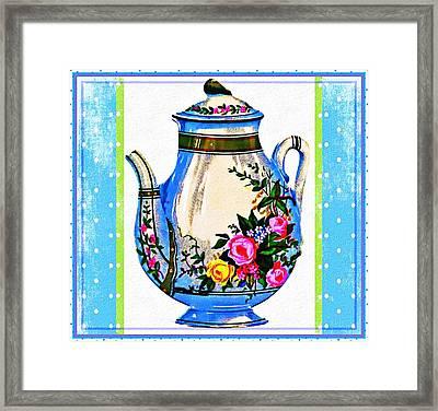 Framed Print featuring the digital art Tea Time by Mary Morawska