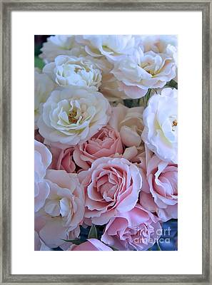 Tea Time Roses Framed Print by Carol Groenen