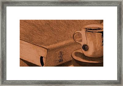 Tea With Jesus Framed Print by Shannon Redmon