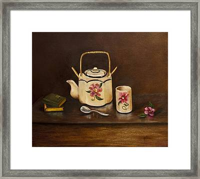 Tea With Mom And Grandma Framed Print by Gina Cordova