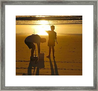 Framed Print featuring the photograph Teach A Man To Fish... by Eric Tressler