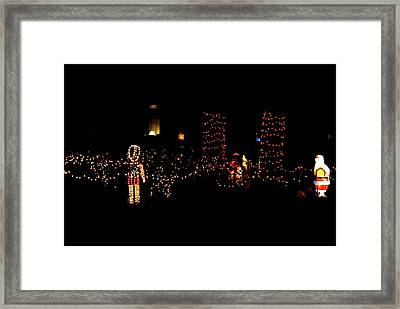 Teakwood Island Toy Soldier To Standing Santa Framed Print by John Wright