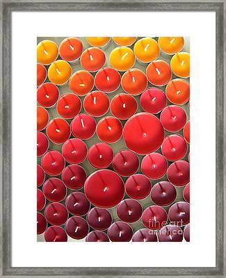 Tealights Framed Print by Karin Ubeleis-Jones