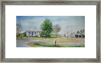 Teals Mill Country Home Framed Print by Gloria Turner