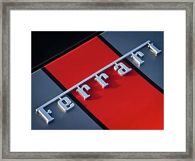 Team Ferrari Framed Print by Douglas Pittman