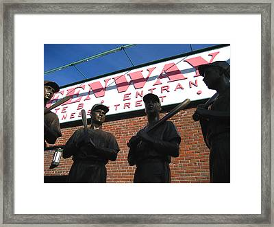 Teammates Framed Print by Sheryl Burns
