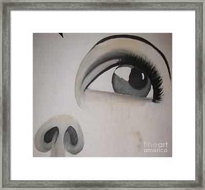 Tear Stains Framed Print by Rachel Carmichael