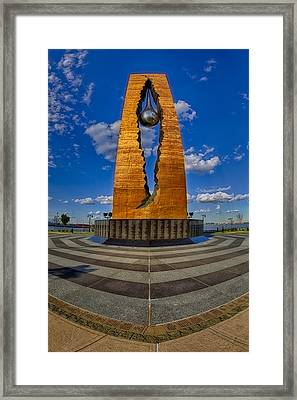 Teardrop Memorial Framed Print by Susan Candelario