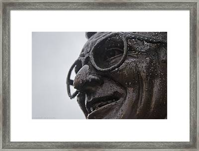 Tears Of Paterno Framed Print by Michael Misciagno