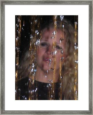 Framed Print featuring the photograph Tears Of Silver Gold And Diamonds by Lyn Calahorrano
