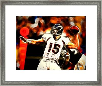 Tebow Framed Print by Paul Van Scott