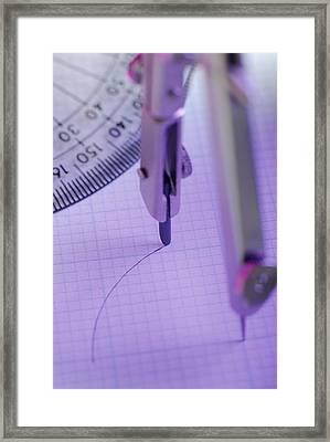 Technical Drawing Framed Print by David Aubrey