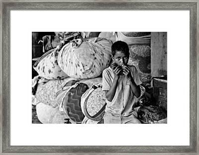 Technology In Sweatshop Framed Print by Kantilal Patel