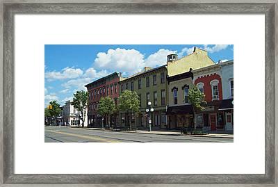 Tecumseh Traffic Light Framed Print by MJ Olsen