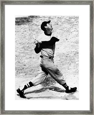 Ted Williams Of The Boston Red Sox, Aug Framed Print