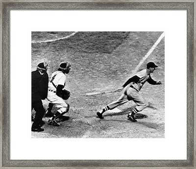 Ted Williams Of The Boston Red Sox, May Framed Print