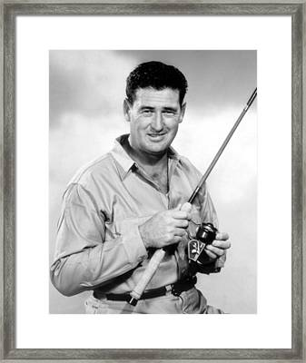 Ted Williams, With His Signature Framed Print by Everett