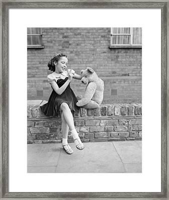 Teddy Act Framed Print by Keystone