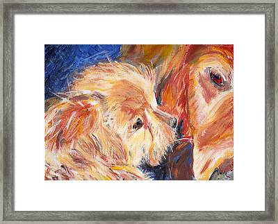 Teddy And Friend Framed Print