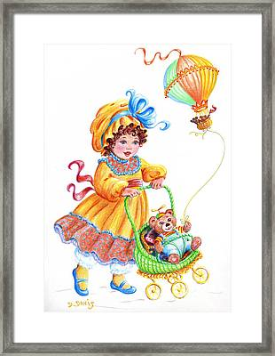 Teddy Bears And Me In The Children's Parade Framed Print by Dee Davis