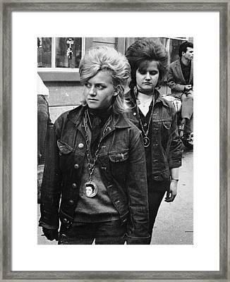 Teddy Ladies Framed Print by Max Schneider