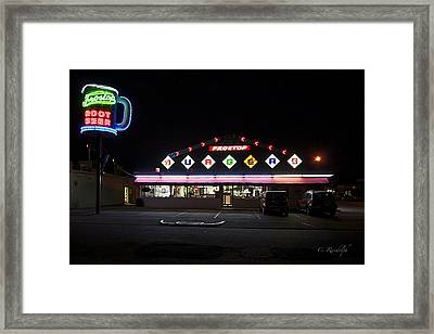 Ted's Frostop Framed Print by Cheri Randolph