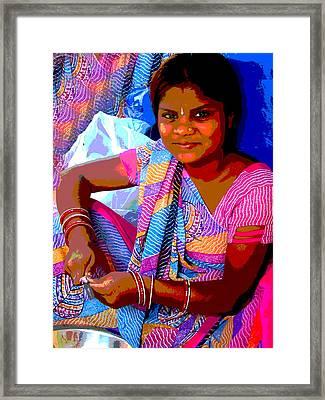 Teenage Girl Framed Print by Vijay Sharon Govender