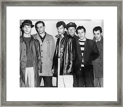 Teenage Members Of The Brooklyn Puerto Framed Print by Everett
