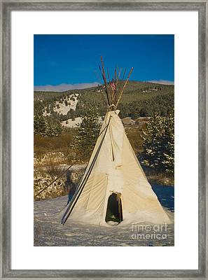 Teepee In The Snow 2 Framed Print by James BO  Insogna
